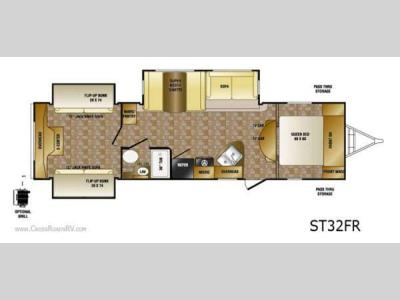Floorplan - 2013 CrossRoads RV Sunset Trail ST32FR