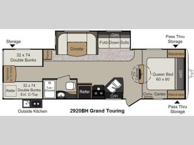 Floorplan - 2013 Keystone RV Passport 2920BH Grand Touring