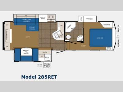 Floorplan - 2014 Prime Time Manufacturing Crusader 285RET
