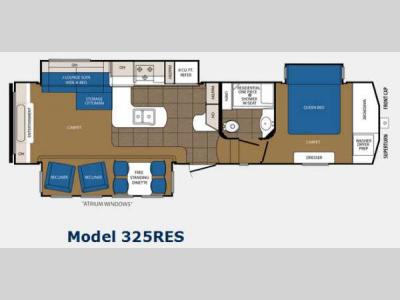 Floorplan - 2014 Prime Time Manufacturing Crusader 325RES