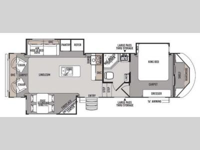 Floorplan - 2014 Forest River RV Wildwood Heritage Glen 286RLT