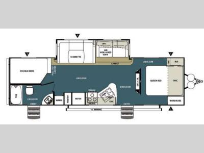 Floorplan - 2014 Forest River RV Wildwood Heritage Glen 272BH