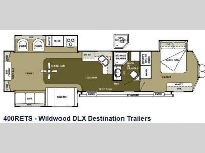 Floorplan - 2013 Forest River RV Wildwood Lodge 400RETS DLX