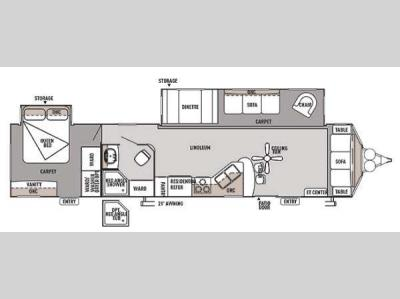 Floorplan - 2014 Forest River RV Wildwood Lodge 39FDEN DLX