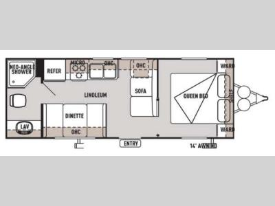 Floorplan - 2014 Forest River RV Wildwood X-Lite 241QBXL