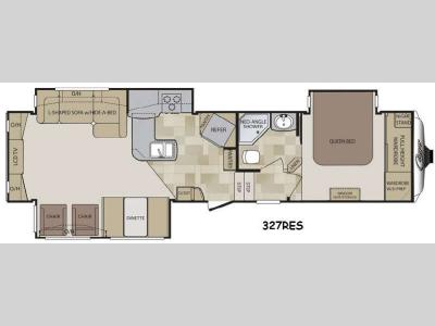 Floorplan - 2014 Keystone RV Cougar 327RES