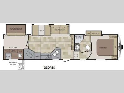 Floorplan - 2014 Keystone RV Cougar 330RBK