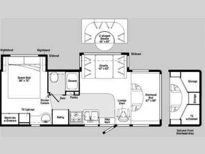 Floorplan - 2007 Winnebago Outlook 27L