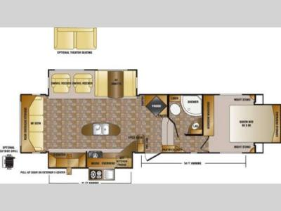Floorplan - 2014 CrossRoads RV Hill Country HCF32RL