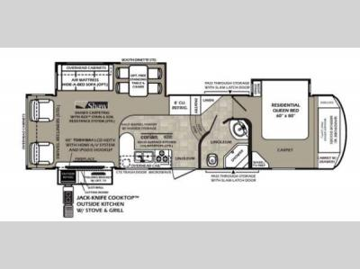 Floorplan - 2014 Forest River RV Wildcat 317RL