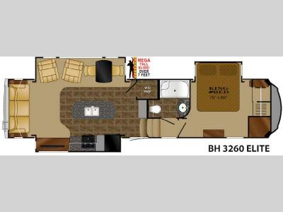 Floorplan - 2014 Heartland Bighorn 3260 Elite