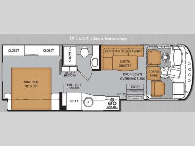Floorplan - 2014 Thor Motor Coach ACE 27 1