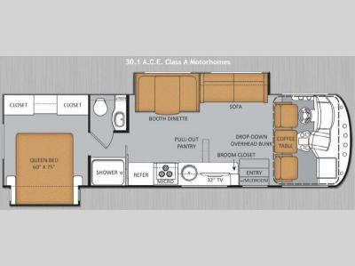 Floorplan - 2014 Thor Motor Coach ACE 30 1