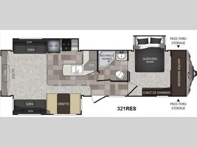 Floorplan - 2014 Keystone RV Cougar High Country 321RES