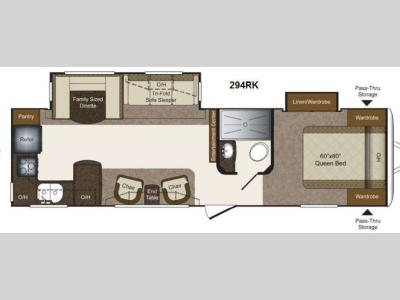 Floorplan - 2014 Keystone RV Laredo Super Lite 294RK