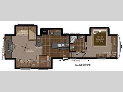 Floorplan - 2014 Keystone RV Montana Big Sky 3625 RE