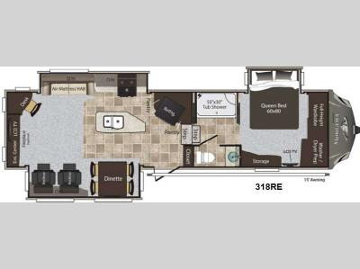 Floorplan - 2014 Keystone RV Montana High Country 318RE