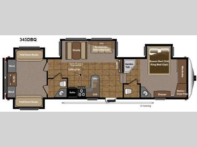 Floorplan - 2014 Keystone RV Mountaineer 345DBQ
