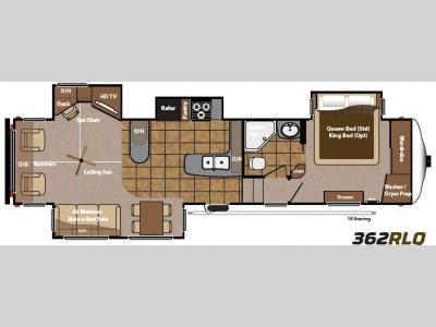 Floorplan - 2014 Keystone RV Mountaineer 362RLQ