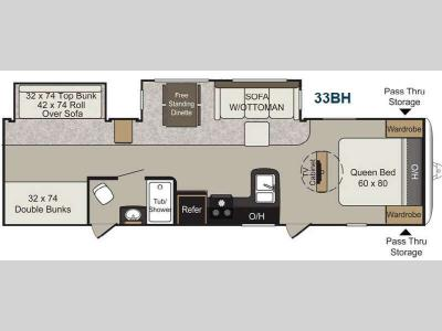 Floorplan - 2014 Keystone RV Passport 33BH Elite