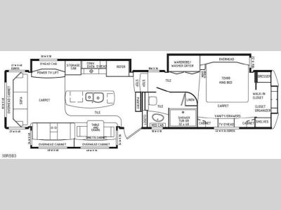 Floorplan - 2014 DRV Luxury Suites Mobile Suites Estates 38RSB3