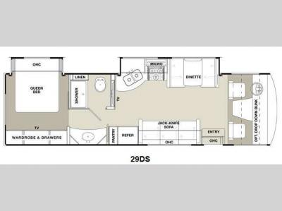 Floorplan - 2014 Coachmen RV Mirada 29DS