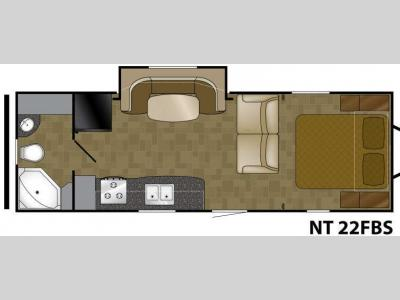 Floorplan - 2014 Heartland North Trail 22FBS