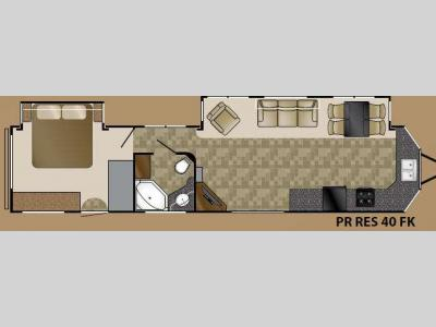 Floorplan - 2014 Heartland Prowler 40FK Resort