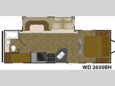 Floorplan - 2014 Heartland Wilderness 2650BH