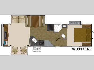 Floorplan - 2014 Heartland Wilderness 3175RE