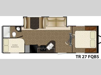 Floorplan - 2014 Heartland Trail Runner 27FQBS