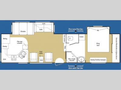 Floorplan - 2007 Keystone RV Sprinter Copper Canyon 293FWRLS