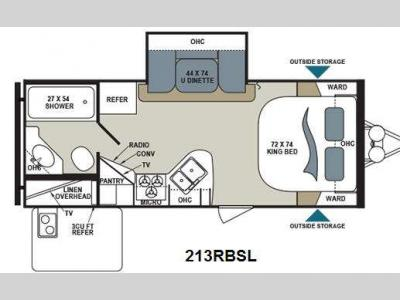 Floorplan - 2014 Dutchmen RV Aerolite 213RBSL