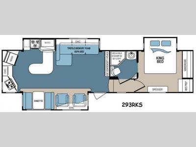 Floorplan - 2014 Dutchmen RV Denali 293RKS