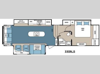Floorplan - 2014 Dutchmen RV Denali 330RLS