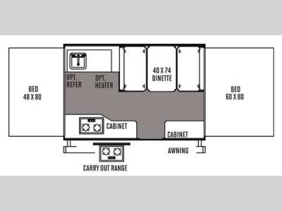 Floorplan - 2014 Forest River RV Flagstaff MAC LTD Series 206LTD