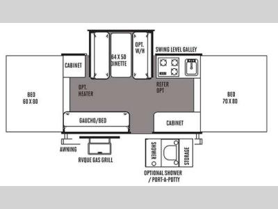 Floorplan - 2014 Forest River RV Flagstaff MAC LTD Series 228D