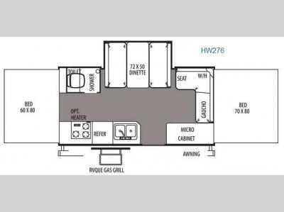 Floorplan - 2014 Forest River RV Rockwood High Wall Series HW276