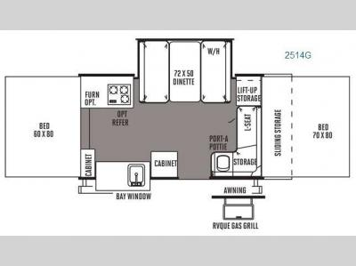 Floorplan - 2014 Forest River RV Rockwood Premier 2514G