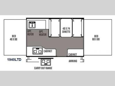 Floorplan - 2014 Forest River RV Rockwood Freedom Series 1940LTD