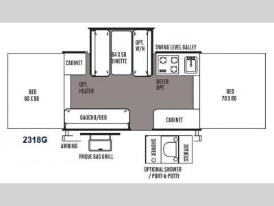 Floorplan - 2014 Forest River RV Rockwood Freedom Series 2318G