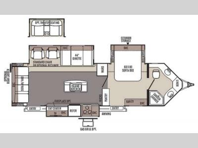 Floorplan - 2014 Forest River RV Flagstaff V-Lite 30WIKSS