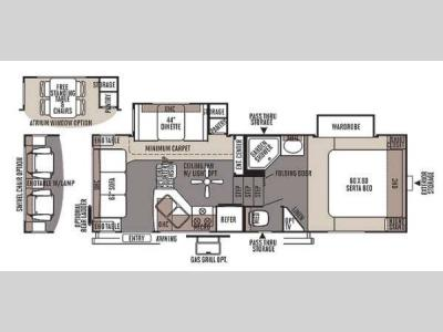 Floorplan - 2014 Forest River RV Flagstaff Classic Super Lite 8524RLWS