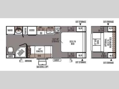 Floorplan - 2014 Forest River RV Flagstaff Micro Lite 23FB