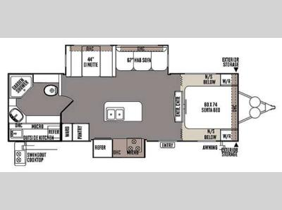 Floorplan - 2014 Forest River RV Rockwood Ultra Lite 2607