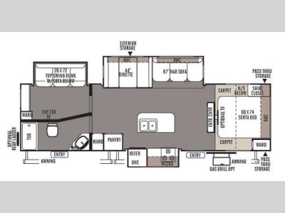 Floorplan - 2014 Forest River RV Rockwood Ultra Lite 2910TS