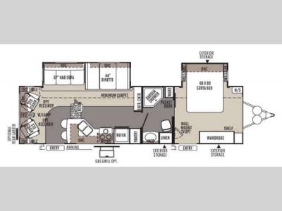 Floorplan - 2014 Forest River RV Rockwood Signature Ultra Lite 8314BSS