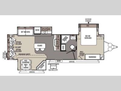 Floorplan - 2014 Forest River RV Rockwood Signature Ultra Lite 8329SS