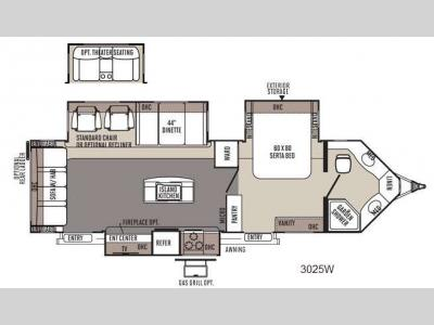 Floorplan - 2014 Forest River RV Rockwood Wind Jammer 3025W