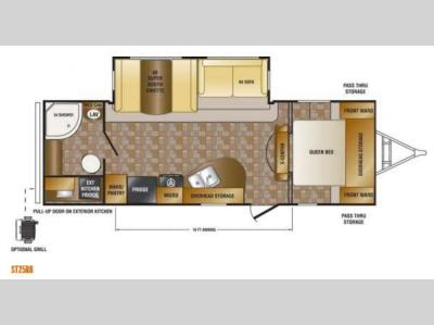Floorplan - 2014 CrossRoads RV Sunset Trail Reserve ST25RB